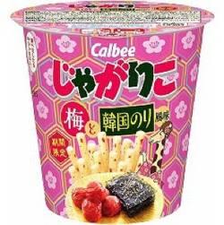 カルビーじゃがりこ梅と韓国のり風味